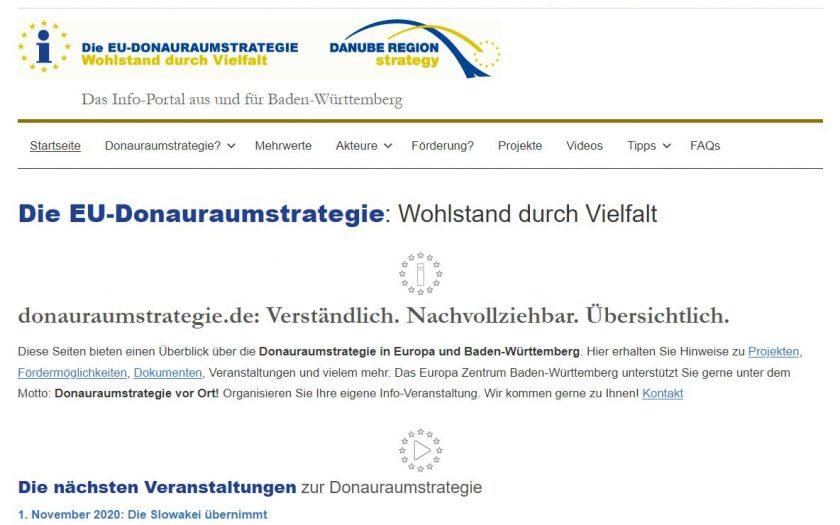 donauraumstrategie.de Screenshot